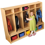 Carolina Line 5 Section Locker - Fully Assembled
