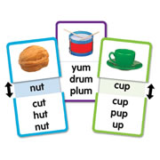 Short U Word Families Slide & Learn Flash Cards