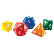 Jumbo Foam Polyhedral Dice (Set of 5)