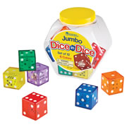 Jumbo Dice in Dice Set (Set of 12)