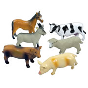 Small Soft Farm Animal Set (Set Of 6)
