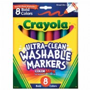 Crayola® 8-Pack Bold Washable Markers (Single Box)
