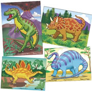 Kaplan Dinosaur Puzzle Set (Set Of 4)