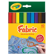 Crayola® 10-Pack Fabric Markers (Single Box)
