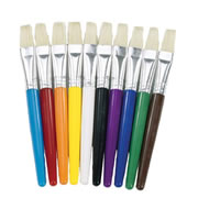30 Flat Stubby Paint Brushes