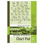 "Eco-Friendly Recycled Chart Pad - 1-1/2"" Ruled"