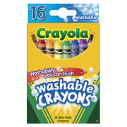 Crayola® Standard 16 Count Washable Crayons (12 Boxes)