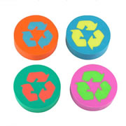 Round Eco Erasers (Set of 4)