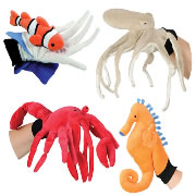 Ocean Animals Puppet Glove Set (Set of 4)