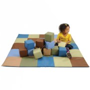 Woodland Patchwork Crawley Mat and Blocks Set