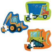 Shaped Construction Vehicle Puzzles (Set of 3)