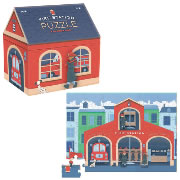 Fire Station House Shaped Box Puzzle