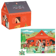 Horse Stable House Shaped Box Puzzle