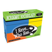 I Have...Who Has? Academic Vocabulary