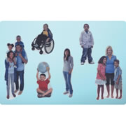 Diversity People Flannel Set