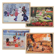Let's Talk About the Seasons Puzzle Set