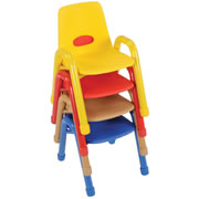 Nature Color Husky Stackable Chair 11 1/2""
