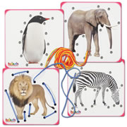 Zoo Animal Lacing Boards