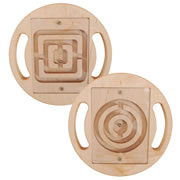 Eco-Friendly Wooden Ball Mazes (Set of 2)