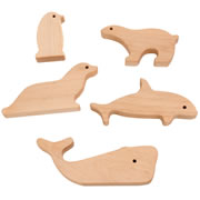Wooden Sea Life Shapes (Set of 5)