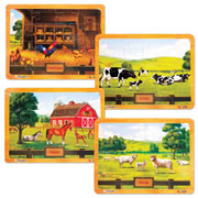 ABCmouse.com Puzzle Set: Farm (Set of 4)