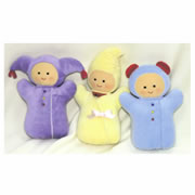 Soft Doll Rattles (Set of 3)