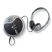 Personal CD Player and Headphone Set