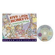 Five Little Monkeys Jumping on the Bed Book and CD