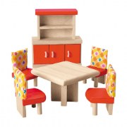 Dining Room Doll House Furniture Group (6 pieces)