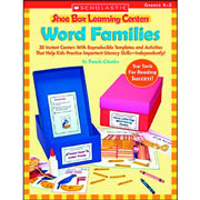 Word Families Shoe Box Learning Center