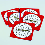 Number Spinners 0-9 (set of 5)