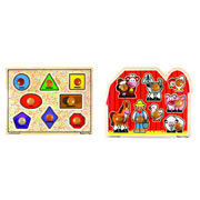 Extra Large Jumbo Knob Puzzles (Set of 2)