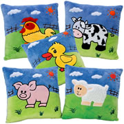 Farm Animal Pillows (Set of 5)