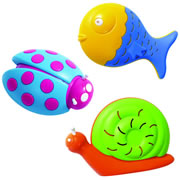 Lady Bug, Fish & Snail Shakers (Set of 6)