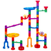 Transparent Marble Run - 48 Piece