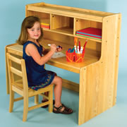 Ash Saving Space Writing Desk