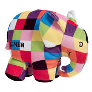 "Elmer the Colorful Plush Elephant (12"")"
