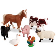 Jumbo Farm Animals (set of 7)