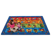 "ASL Seating Rug by Baby Signs® - 7'8"" x 10'10"" Rectangle"