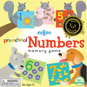 Preschool Numbers Memory Game