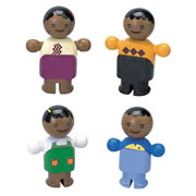 African American City Family Set 2
