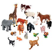 Jumbo Animals Set of 18