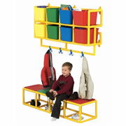 "8 Cubbie Wall Storage Only (51""W x 12""D x 27""H)"