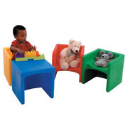 Cubed Chairs - Primary Colors