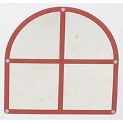 Arched Window Mirror