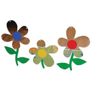 Flower Mirrors (Set of 3)