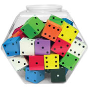 "Tub Of 2"" Foam Spot Dice"