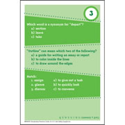 Brain Blasters Vocabulary Practice Cards - Grade 4