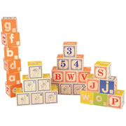 Braille Sign Language Alphabet Blocks