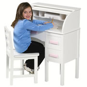 JR Roll-Top Desk - White